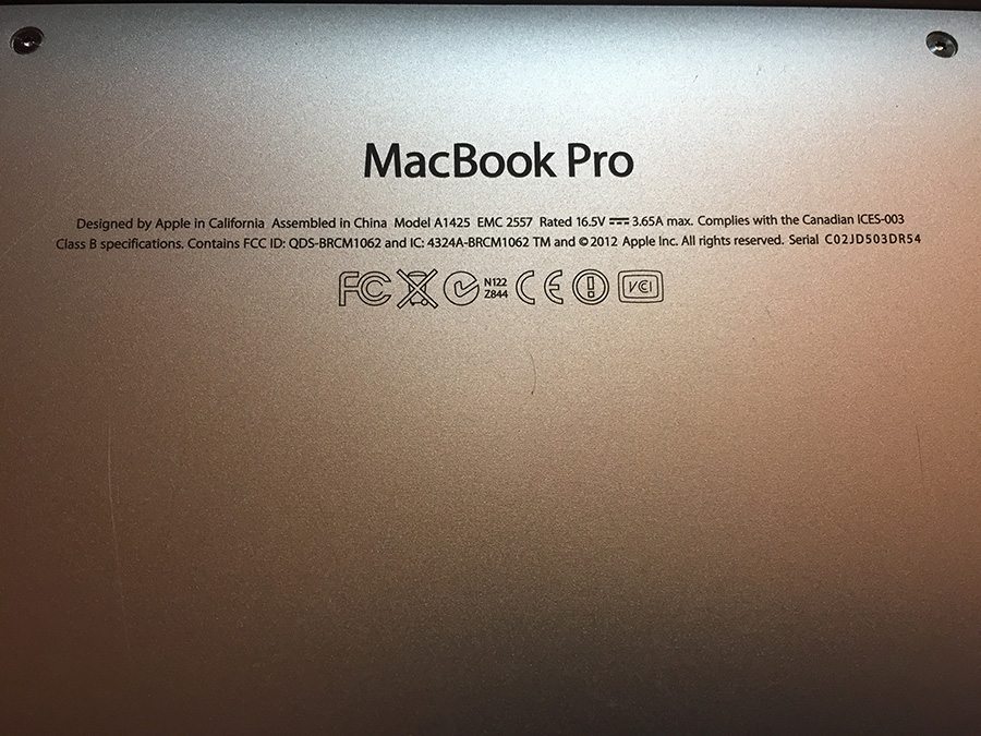 MacBook Pro (Retina, 13-inch, Early 2013) 8GB Ram 256GB SSD 95% new battery 6 cycles count only
